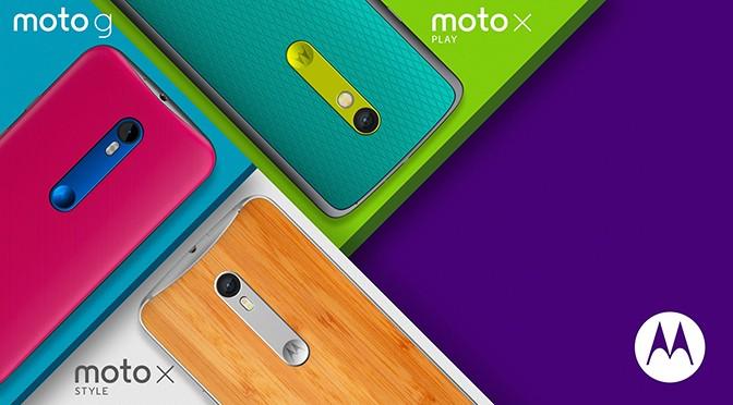 Motorola представила новые Moto G, Moto X Play и Moto X Style